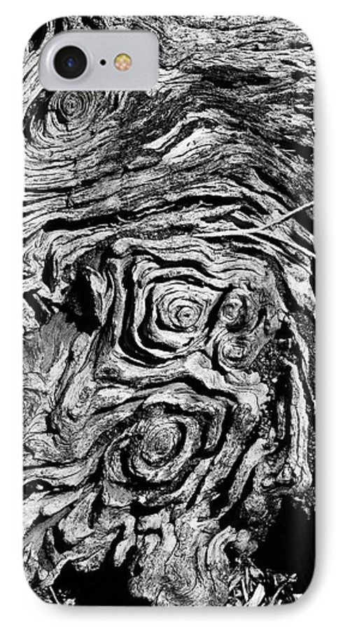 Tree IPhone 7 Case featuring the photograph Ancient Stump by Christopher Holmes