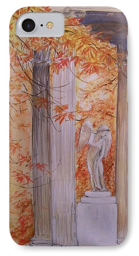 Angel IPhone 7 Case featuring the painting Ange Petit Trianon Versailles by Lizzy Forrester