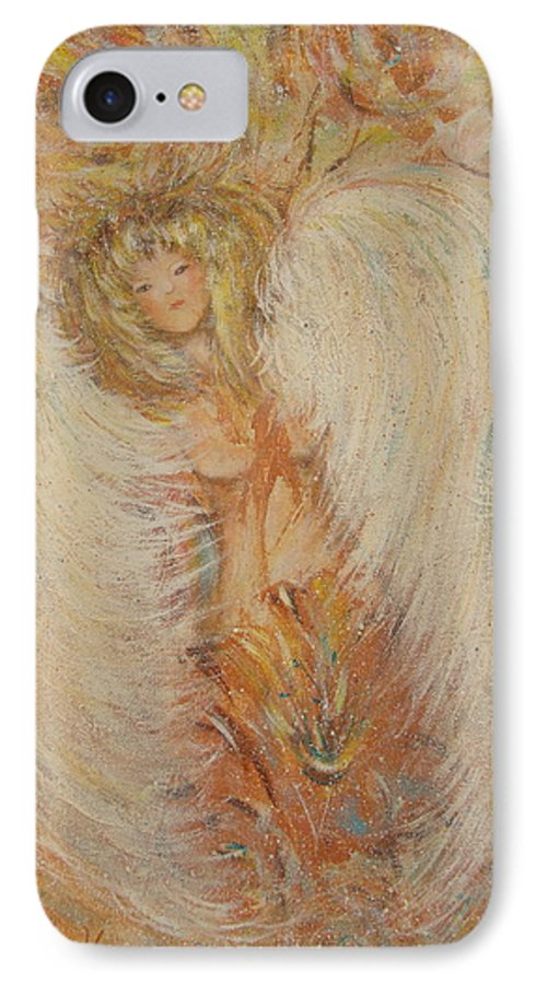 Angel IPhone 7 Case featuring the painting Angel Loves You by Natalie Holland