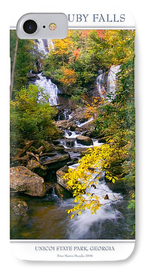 Landscape IPhone 7 Case featuring the photograph Anna Ruby Falls by Peter Muzyka