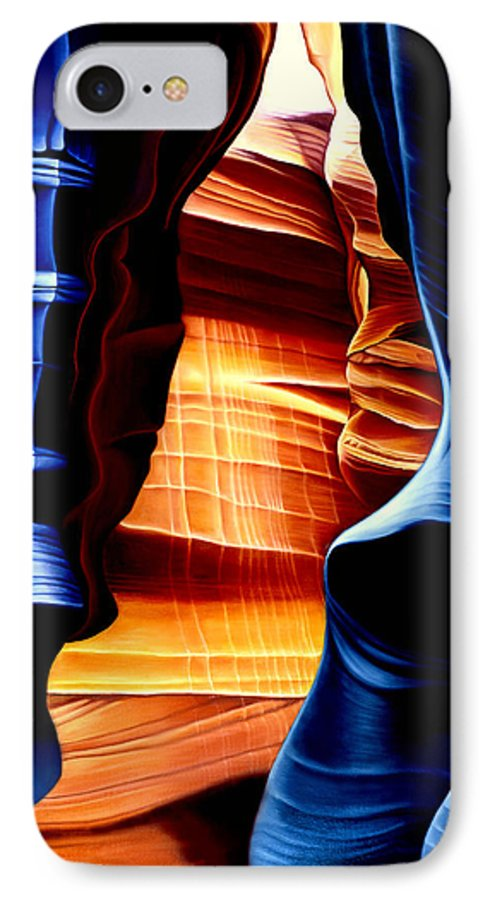 Landscape IPhone 7 Case featuring the painting Antelope Canyon by Anni Adkins