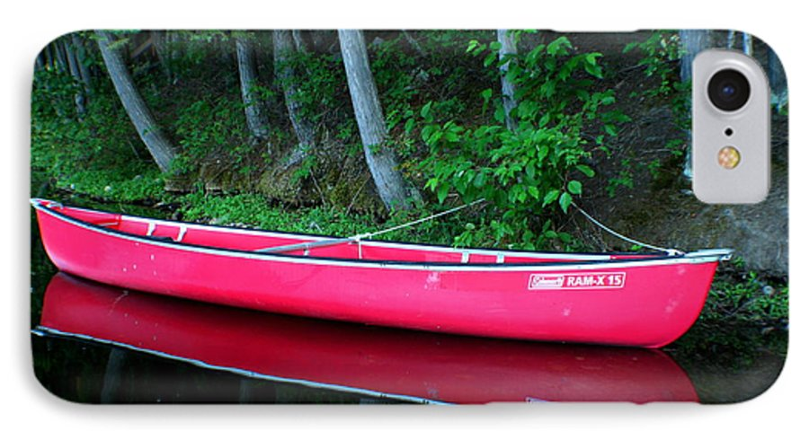 Canoe IPhone 7 Case featuring the photograph Anticipation by Idaho Scenic Images Linda Lantzy