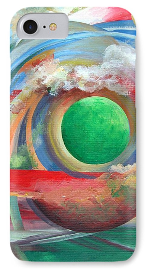 Abstract IPhone 7 Case featuring the painting Arc by Muriel Dolemieux