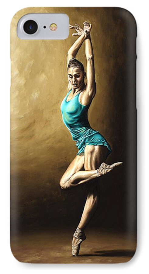 Dance IPhone 7 Case featuring the painting Ardent Dancer by Richard Young