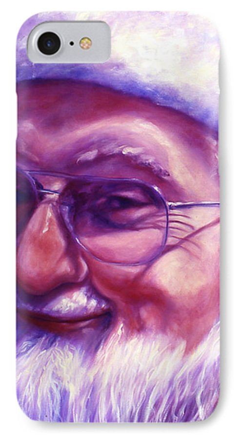 Portrait IPhone Case featuring the painting Are You Sure You Have Been Nice by Shannon Grissom