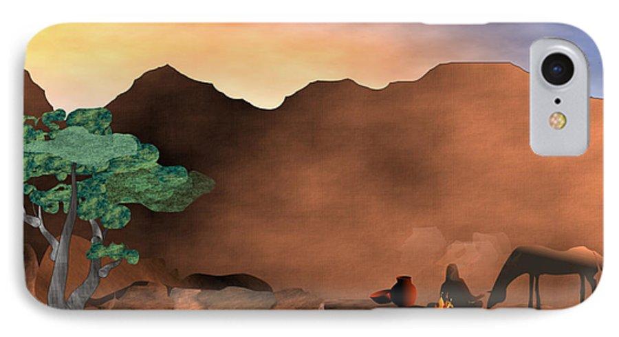 Arizona IPhone 7 Case featuring the digital art Arizona Sky by Arline Wagner