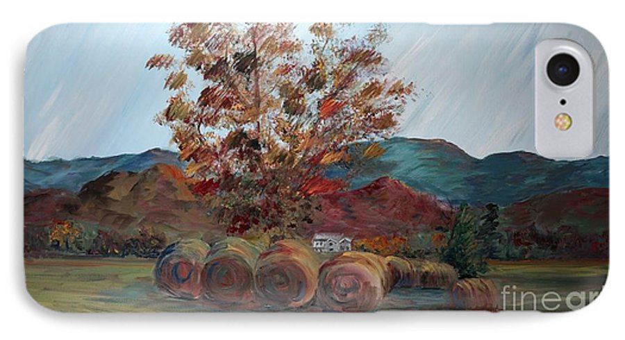 Autumn IPhone 7 Case featuring the painting Arkansas Autumn by Nadine Rippelmeyer