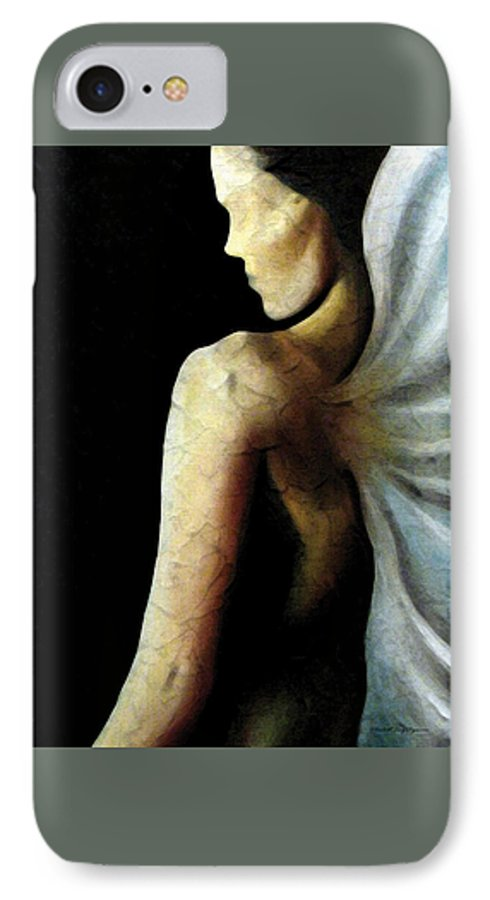 Angel IPhone 7 Case featuring the painting Armaita Angel Of Truth Wisdom And Goodness by Elizabeth Lisy Figueroa