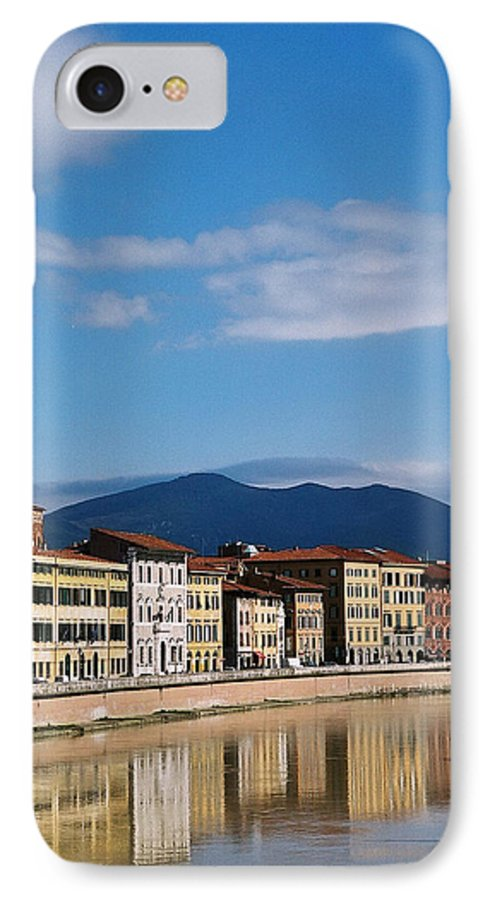 Pisa IPhone 7 Case featuring the photograph Arno River Pisa Italy by Kathy Schumann