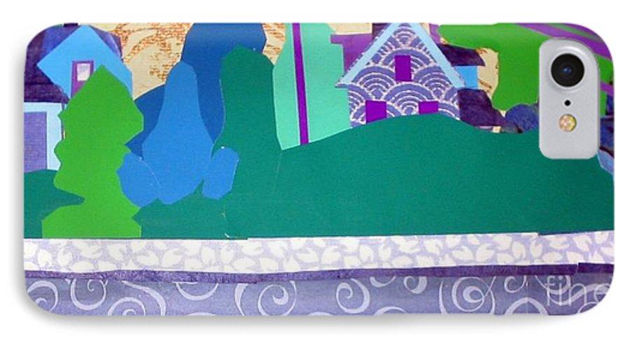 Landscape IPhone 7 Case featuring the mixed media Art Colony by Debra Bretton Robinson