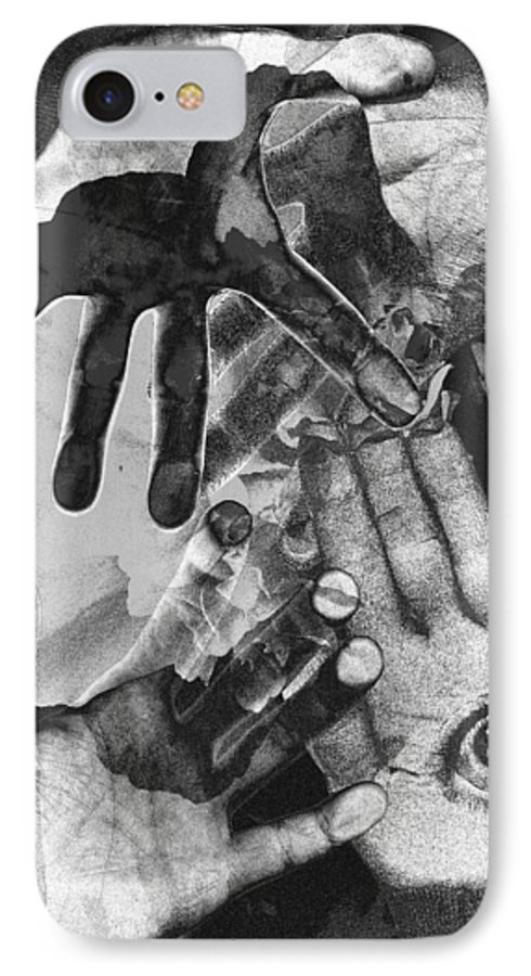 Hands IPhone 7 Case featuring the photograph Artist's Hands by Nancy Mueller