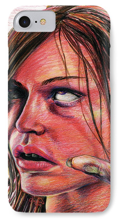 Drugs IPhone 7 Case featuring the drawing Wasted by Adesina Artist