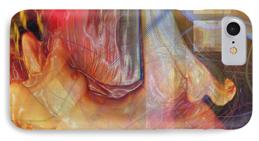 Passion Play IPhone 7 Case featuring the digital art Passion Play by John Beck