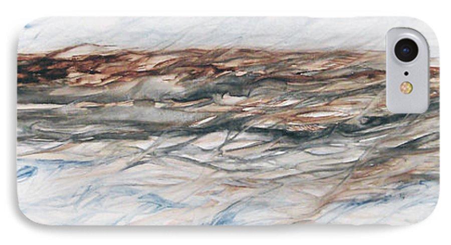 Above Air Artist As Below Blue Brown Darkest Darkestartist Earth Ground Painting Water Watercolor IPhone 7 Case featuring the painting As Above Below by Darkest Artist
