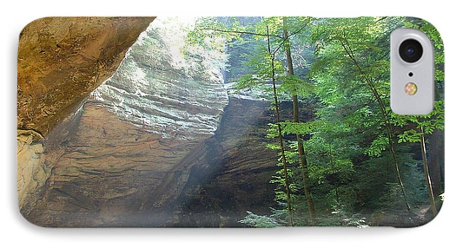 Photograph IPhone 7 Case featuring the photograph Ash Cave by Mindy Newman