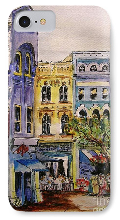 Townhouses IPhone 7 Case featuring the painting Asheville by Lizzy Forrester