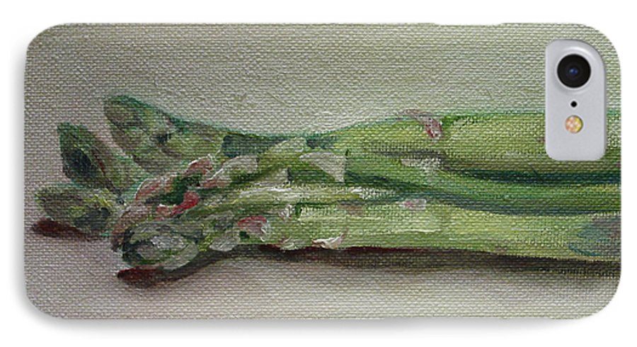 Food IPhone 7 Case featuring the painting Asparagus by Sarah Lynch