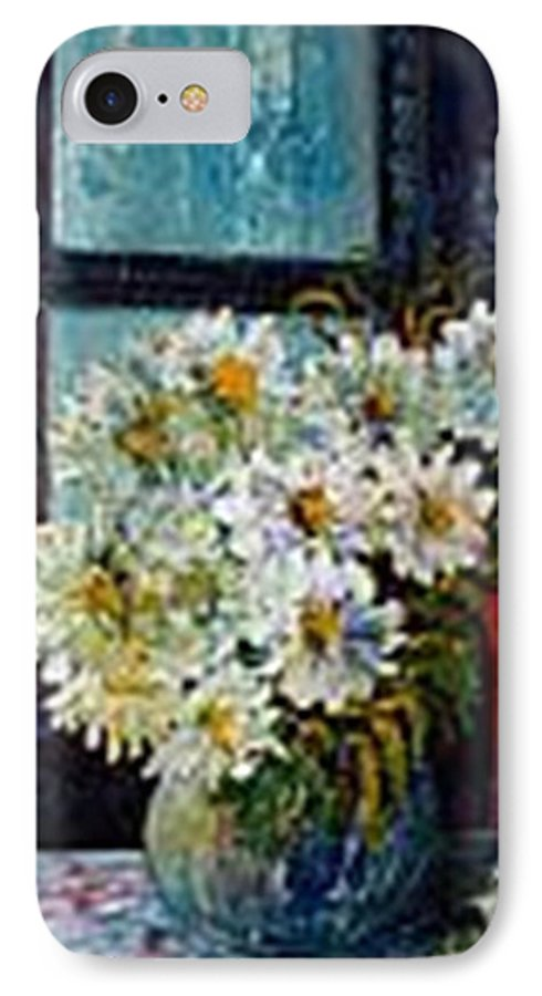 By The Window IPhone 7 Case featuring the painting At Home by Carol P Kingsley