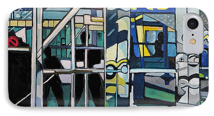 Abstract IPhone 7 Case featuring the painting Atlanic City Abstract No.1 by Patricia Arroyo