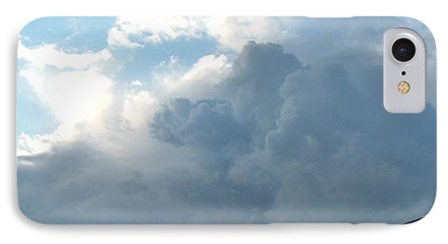 Sky IPhone 7 Case featuring the photograph Atmospheric Barcode 19 7 2008 16 by Donald Burroughs