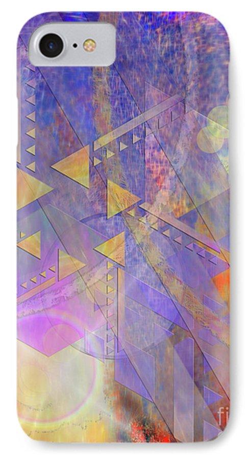 Aurora Aperture IPhone 7 Case featuring the digital art Aurora Aperture by John Beck