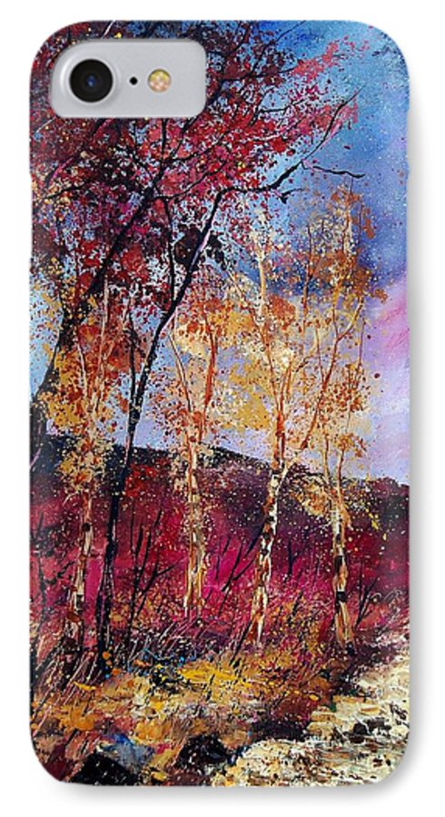 Landscape IPhone 7 Case featuring the painting Autumn 760808 by Pol Ledent