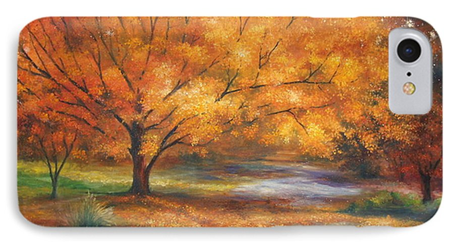 Fall IPhone 7 Case featuring the painting Autumn by Ann Cockerill