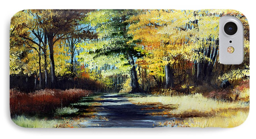 Landscape IPhone 7 Case featuring the painting Autumn Colors by Paul Walsh