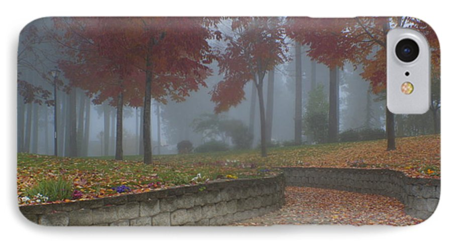 Autumn IPhone 7 Case featuring the photograph Autumn Fog by Idaho Scenic Images Linda Lantzy