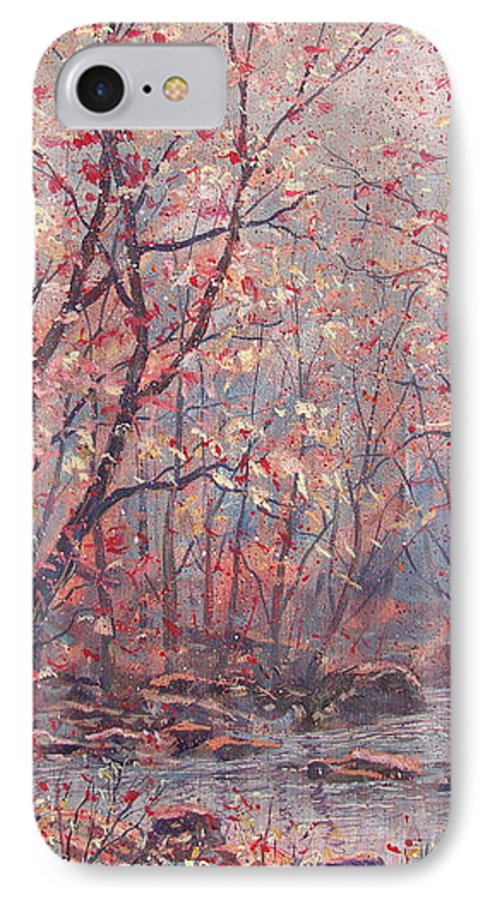 Landscape IPhone 7 Case featuring the painting Autumn Harmony. by Leonard Holland