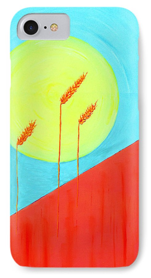 Landscape IPhone 7 Case featuring the painting Autumn Harvest by J R Seymour