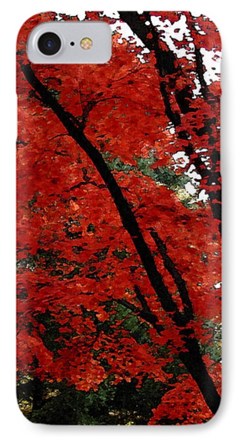 Autumn IPhone 7 Case featuring the photograph Autumn In New England by Melissa A Benson
