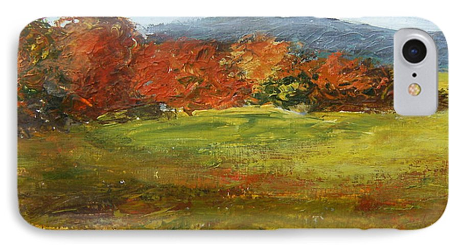 Landscape IPhone 7 Case featuring the painting Autumn Is Here by Tami Booher