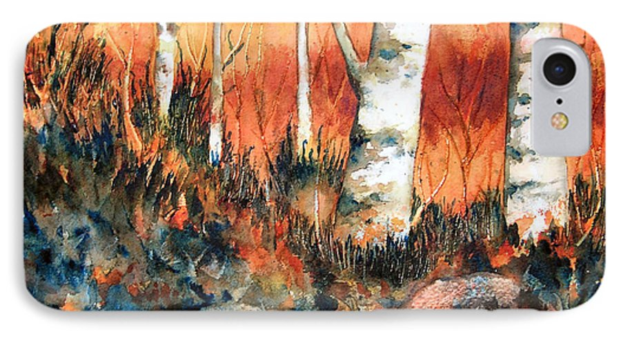 Landscape IPhone 7 Case featuring the painting Autumn by Karen Stark