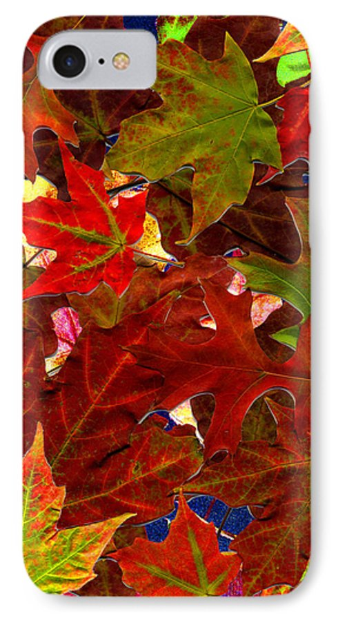 Collage IPhone 7 Case featuring the photograph Autumn Leaves by Nancy Mueller