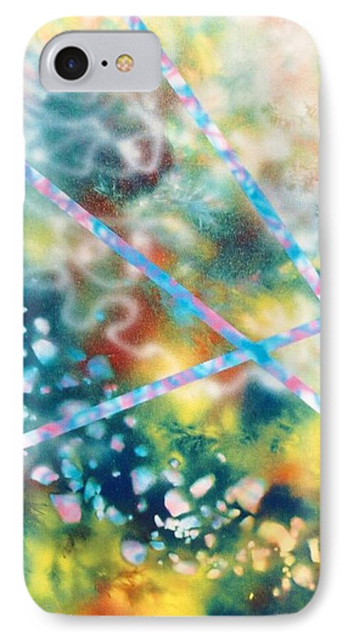 Abstract IPhone 7 Case featuring the painting Autumn by Micah Guenther