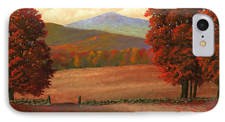 Autumn IPhone 7 Case featuring the painting Autumn Pastures by Frank Wilson