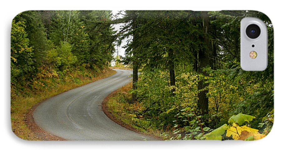 Road IPhone 7 Case featuring the photograph Autumn Road by Idaho Scenic Images Linda Lantzy