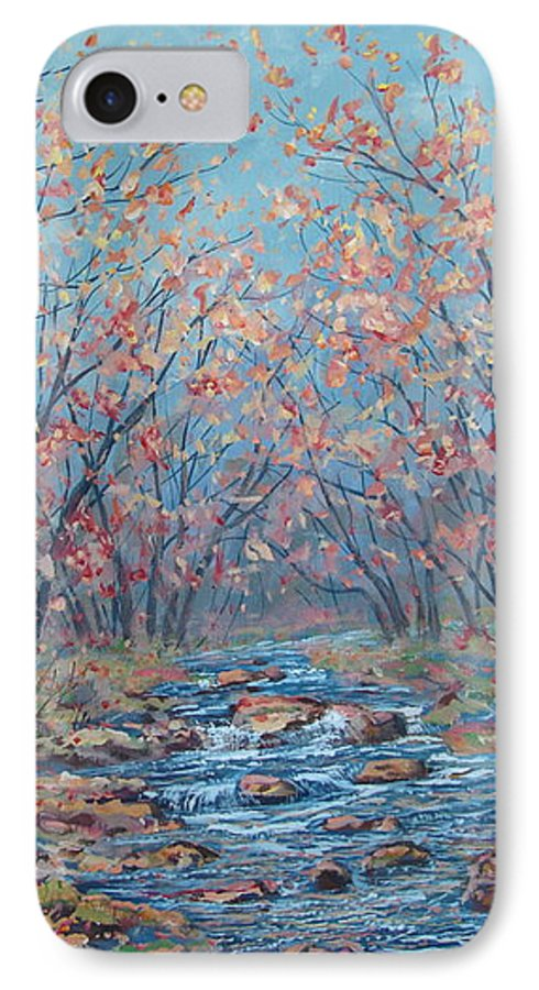 Landscape IPhone 7 Case featuring the painting Autumn Serenity by Leonard Holland