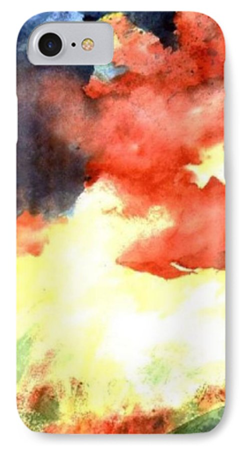 Autumn IPhone 7 Case featuring the painting Autumn Storm by Andrew Gillette