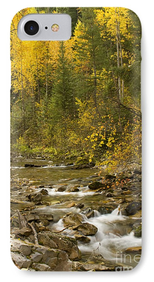 Idaho IPhone 7 Case featuring the photograph Autumn Stream by Idaho Scenic Images Linda Lantzy