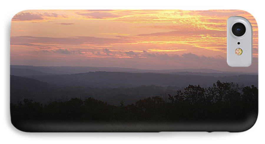 Sunrise IPhone 7 Case featuring the photograph Autumn Sunrise Over The Ozarks by Nadine Rippelmeyer