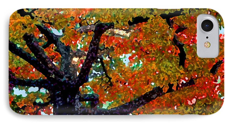 Fall IPhone 7 Case featuring the photograph Autumn Tree by Steve Karol