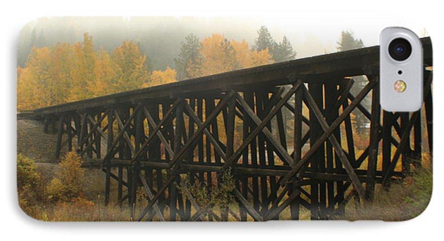 Trestle IPhone 7 Case featuring the photograph Autumn Trestle by Idaho Scenic Images Linda Lantzy