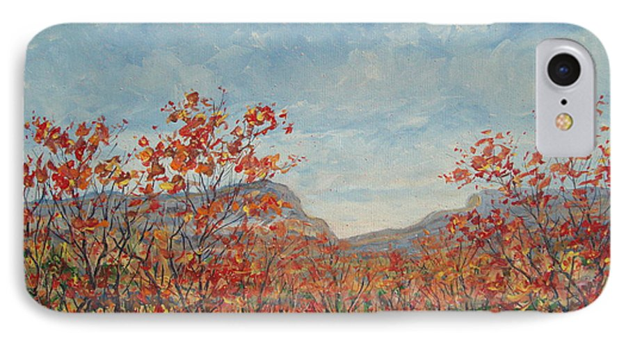 Paintings IPhone 7 Case featuring the painting Autumn View. by Leonard Holland