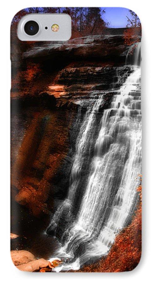 Autumn IPhone 7 Case featuring the photograph Autumn Waterfall 3 by Kenneth Krolikowski