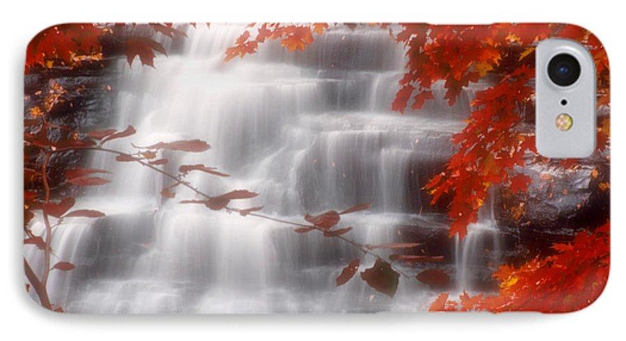Autumn IPhone 7 Case featuring the photograph Autumn Waterfall I by Kenneth Krolikowski