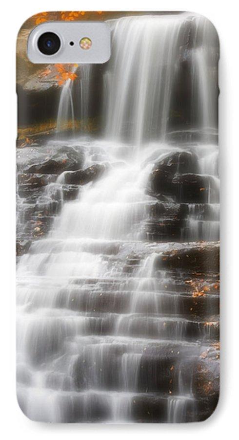 Autumn IPhone 7 Case featuring the photograph Autumn Waterfall II by Kenneth Krolikowski