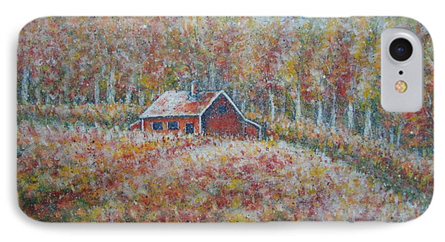 Landscape IPhone 7 Case featuring the painting Autumn Whisper. by Natalie Holland