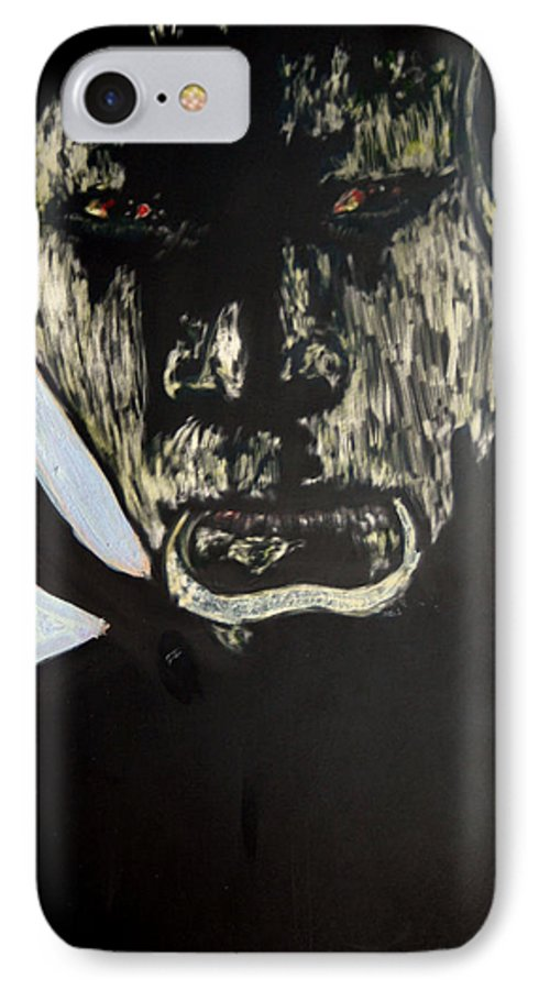 IPhone 7 Case featuring the mixed media Avenging Angel by Chester Elmore